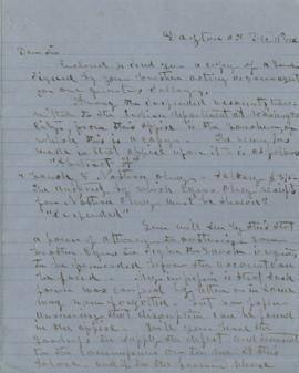 Copy of letter to Nathan Olney