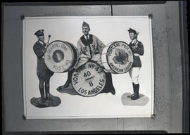 Photograph of collage showing American Legion drummers