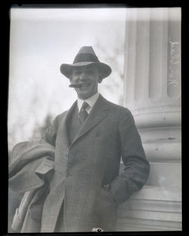A. W. Norblad outside Oregon State Capitol