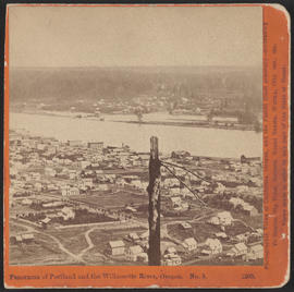 """Panorama of Portland and the Willamette River, Oregon. No. 5."" (Stereograph 1205)"