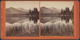 """Donner Lake, with Crested Peak and Mt. Lincoln in distance."" (Stereograph 129)"