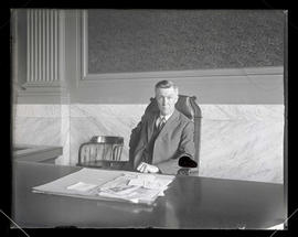 Unidentified judge seated at bench in Multnomah County Courthouse