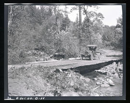 Oak Grove project, temporary wagon bridge across North Fork