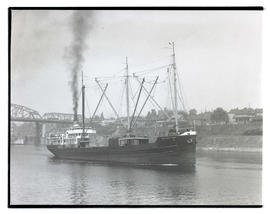 Edna Christenson on Willamette River in Portland