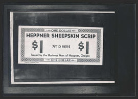Heppner Sheepskin Scrip, back side