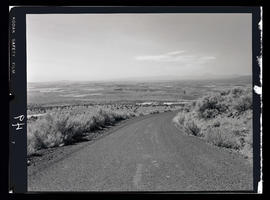 Mountains and dirt road near Cove Palisades State Park