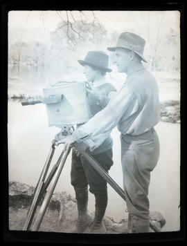 William and Irene Finley with a camera