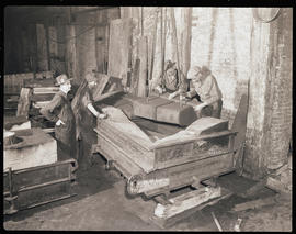 Workers at Columbia Steel Casting Company