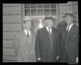 William, Charles H. Martin, and unidentified man