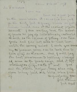 Copy of letter to F. Stanton