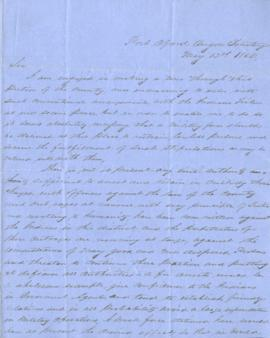 Letter requesting military support