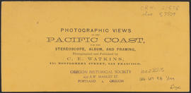 "Verso of, ""Dalles City, Columbia River. View from the East."" (Stereograph 1304)"