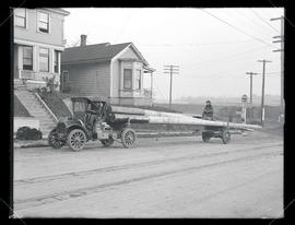 Pole trucks at the Portland Railway, Light & Power Co.
