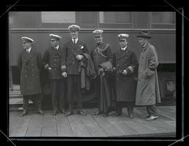Prince Axel of Denmark with group of unidentified men