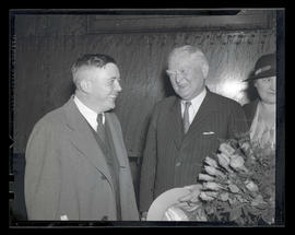 Mayor Joseph K. Carson and Vice President John Nance Garner at Union Station, Portland