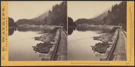 """The Tooth Bridge, O.R.R. Cascades, Columbia River."" (Stereograph 1297)"