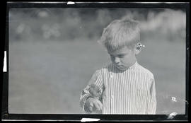 William Finley Jr. with a bluebird