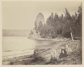"""Rooster Rock. Columbia River."" (Mammoth 418)"