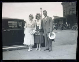 Aimee Semple McPherson? with unidentified woman and man