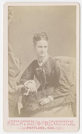 Portrait of an unidentified woman from Shuster and Dennie Studio