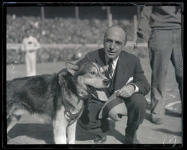 Washington Governor Roland Hartley? with dog