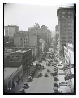 View of 6th Street, downtown Portland, facing south