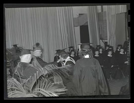 Graduate receiving diploma at 1943 Marylhurst College commencement