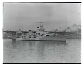 U. S. Navy ship on Willamette River, Portland