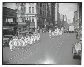 Women marching in Portland parade