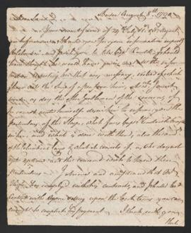 Letter from Joseph Barrell to Samuel Webb