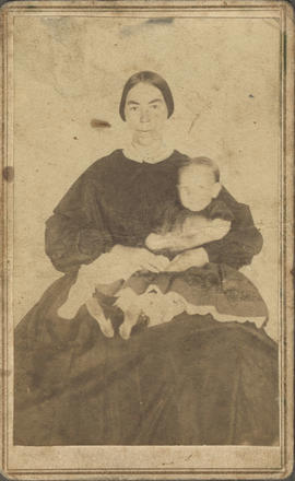 Quick, Martha Anna (Pitzer) and child