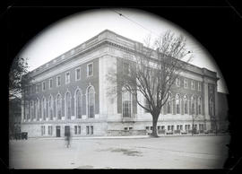 View of Multnomah County Central Library, Portland, from corner of 11th and Taylor