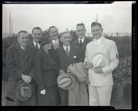 Charles Wakefield Cadman with group of unidentified people