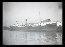 Steamship English Monarch moored at Montgomery Dock No. 2, Portland