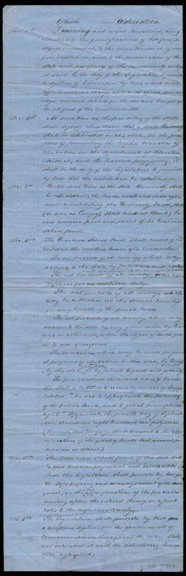 Preliminary draft of the Oregon State Constitution, Article VII - Education Department
