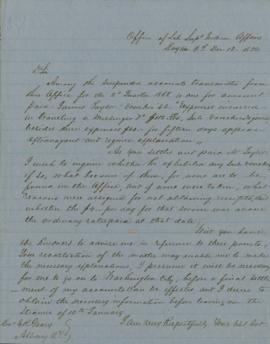 Copy of letter to E.R. Geary