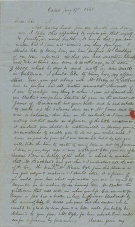 Letter to Joel Palmer from W. B. Bonney
