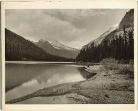 Fishing at Avalanche Lake, Glacier National Park