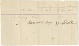 Receipt from George Skelton to Sarah Ann Palmer for digging a grave.