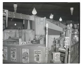 Display of B-K disinfectants, probably at Pacific International Livestock Exposition