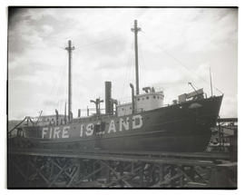 Lightship Fire Island in dry dock