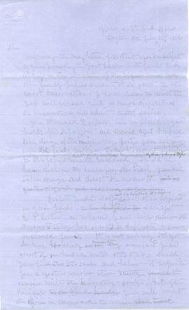 Copy of letter to R.B. Metcalfe