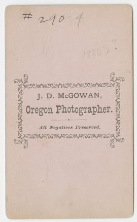 J. D. McGowan portrait of an unidentified woman (verso)