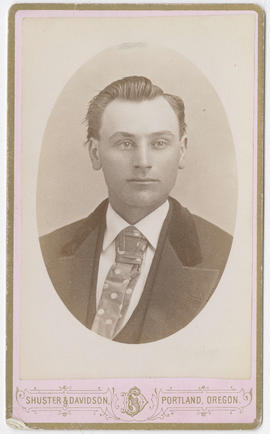 Portrait of an unidentified man from Shuster & Davidson Studio