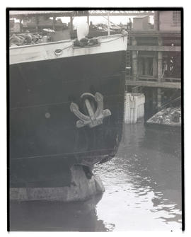 Ship with damaged bow