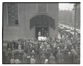 Procession into St. Mary's Cathedral, Portland, for funeral of Archbishop Alexander Christie