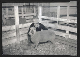 Man posing with sheep