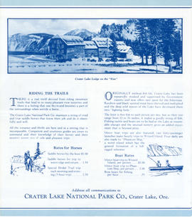 Crater Lake brochure (outside)