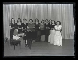Marylhurst College students performing at recital, 1943