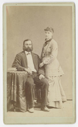 Portrait of an unidentified man and woman from Davidson Bros. Studios